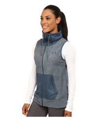 Under Armour - Blue Ua Survivor Hybrid Full-zip Vest - Lyst