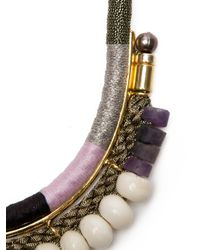 Lizzie Fortunato - White Rope and Bead Necklace - Lyst