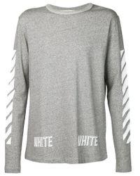 Off-White c/o Virgil Abloh Gray Long Sleeve T-shirt for men