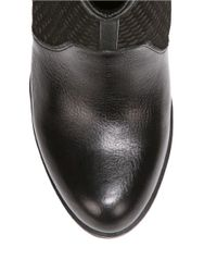 Fergie - Black Towson Perforated Leather Ankle Boots - Lyst