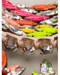 Shourouk | Multicolor 'river' Necklace | Lyst