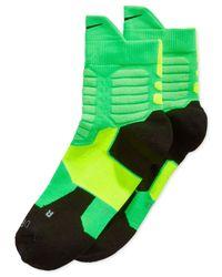 Nike Green Kd Hyper Elite High Quarter Basketball Socks for men