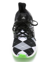 Adidas | White Ultra Boost Kva Sneakers - Core Black/grey/solar Green | Lyst
