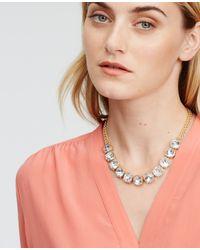 Ann Taylor | Metallic Round Crystal Necklace | Lyst