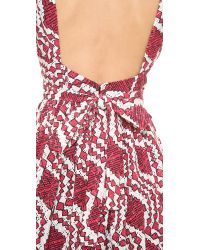 Thakoon Addition Backless Flared Dress - Pink/Black/Ivory