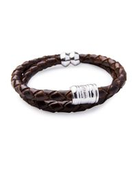 Miansai | Brown Men's Woven Leather Bracelet for Men | Lyst