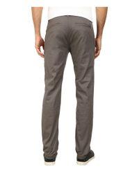 Brixton - Gray Grain Chino Pants for Men - Lyst