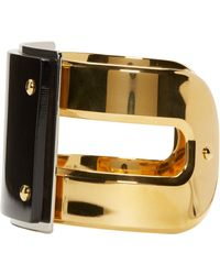 Marni   Black Horn Cuff Bracelet   Lyst