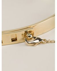 Eddie Borgo Metallic Thin Safety Chain Choker