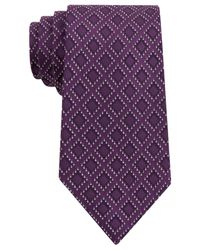 Sean John | Purple Dotted Square Tie for Men | Lyst