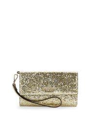 kate spade new york | Metallic Glitter Bug Shimmer Wristlet | Lyst