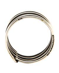 Ann Demeulemeester Metallic Spiral Ring