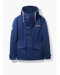 Mango Blue Military-Style Canvas Parka for men