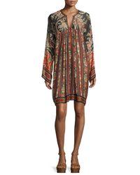 Étoile Isabel Marant - Black Tresha Paisley-print Tunic Dress - Lyst