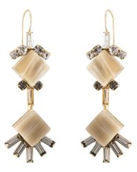 Marni | Metallic Diamond-shaped Earrings | Lyst