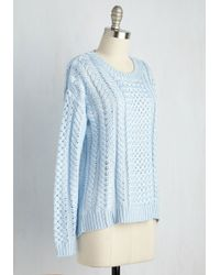 Mak | Blue Tranquil Teachings Sweater | Lyst