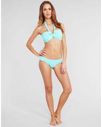 Seafolly Blue Bandeau Bikini Top