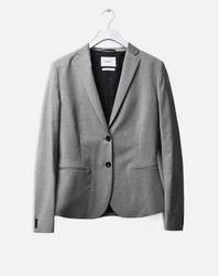 Filippa K Gray Jackie Cool Wool Jacket Light Grey