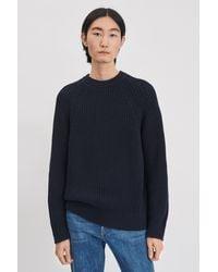 Filippa K Blue Yusuf Cotton Sweater for men