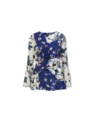 Finery London - Blue Eyton Top - Lyst