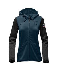 24b3463d8 Women Ic Winter Olympics Half Dome Hoodie, Cosmic Blue/ Black
