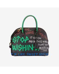 Balenciaga - Green All-over Graffiti Handbag By - Lyst