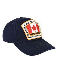 DSquared² - Blue Flag Logo Cap for Men - Lyst