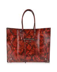 Balenciaga - Red Papier Python Skin Tote - Lyst