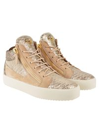 Giuseppe Zanotti Multicolor Suede Python High Top Trainers for men