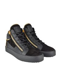 Giuseppe Zanotti Black May Zip High Top Trainers for men