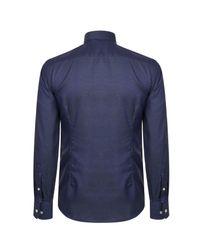 Eton of Sweden Blue Slim Fit Micro Dot Shirt for men