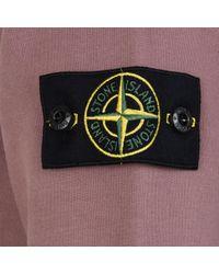 Stone Island - Purple Badge Sleeve Sweatshirt for Men - Lyst