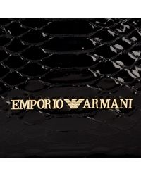Emporio Armani Black Wilma Shopper Bag