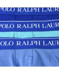 Polo Ralph Lauren Blue Three Pack Of Boxer Shorts for men