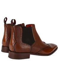 Jeffery West Brown Capone Wing Tip Chelsea Boots for men