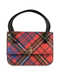 Vivienne Westwood Red Edinburgh Check Small Bag