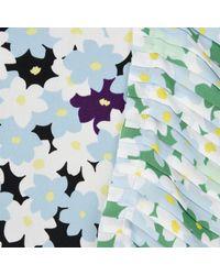 KENZO - Blue 'jackie Flowers' Top - Lyst