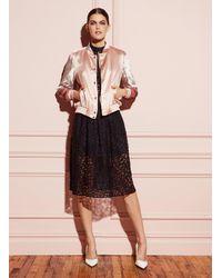 Fleur du Mal - Black Leopard Lace Dress With Triangle Bra - Lyst
