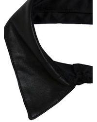 Fleur du Mal - Black Leather Collar - Lyst