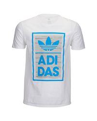Adidas Originals Blue Modern Static T-shirt for men