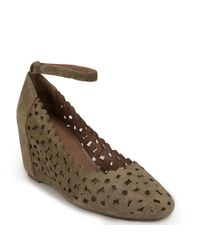 Jeffrey Campbell | Natural Suede Wedge | Lyst
