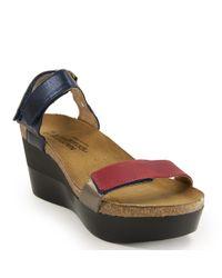 Naot - Black Wedge Sandal - Lyst