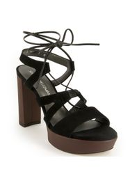 Stuart Weitzman   Black Platform Sandal   Lyst