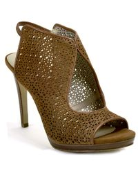 Tory Burch | Brown Suede Cutout Sandal | Lyst