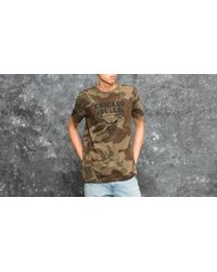 KTZ Green Bng Graphic Chicago Bulls Tee Woodland Camo for men