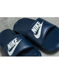 Nike Blue Benassi Jdi Midnight Navy/ Windchill for men