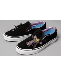 Vans Black X The Nightmare Before Christmas Classic Slip-On Lace (DISNEY) Haunted Toys