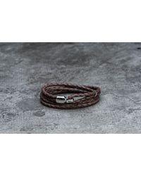 Footshop - Metallic Miansai Trice Bracelet With Sleeve Silver/ Brown - Lyst