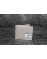 Herschel Supply Co. | Gray Roy Pl+ Wallet Light Khaki Crosshatch for Men | Lyst