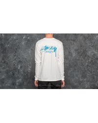 Stussy Multicolor Designs Pigment Dyed Longsleeve Tee Natural for men